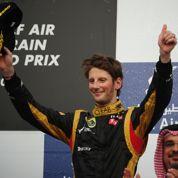 Premier podium pour Romain Grosjean