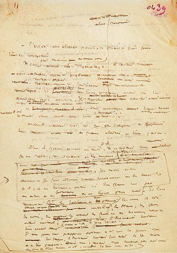 Page manuscrite du <i>Petit Prince</i>.