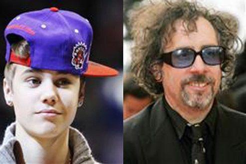Justin Bieber et Tim Burton dans Men in Black III