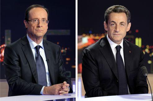 François Hollande et Nicolas Sarkozy se retrouveront face à face mercredi à la télévision.