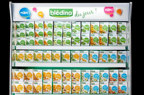 Blédina a fourni aux hypermarchés des réfrigérateurs dédiés qui seront placés au milieu du rayon bébé.