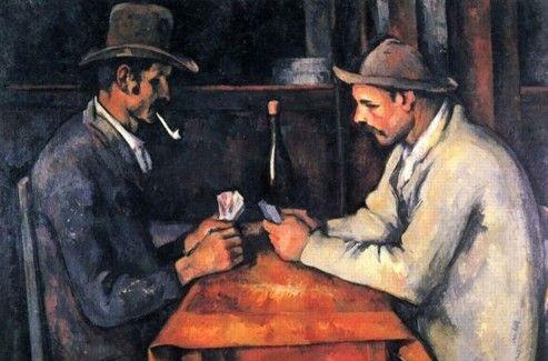 <i>Les Joueurs de cartes</i> de Cézanne. DR