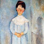 Bien que l'on ait reproché à Modigliani son style répétitif (yeux en amande...), ce shéma ne nuit pas à l'expression de la personnalité des modèles (
