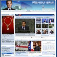 Le premier site de l'Élysée sous l'ère Sarkozy.