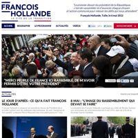«Le site de la transition» de François Hollande, mis en ligne mardi.