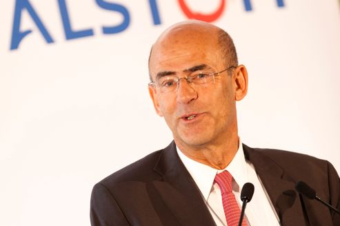 Patrick Kron, le PDG d'Alstom, parrain de la filière ferroviaire