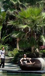 Le spa de l'hôtel Mandarin-Oriental, l'un des rares hôtels où l'on croise quelques clients étrangers (russes pour la plupart).