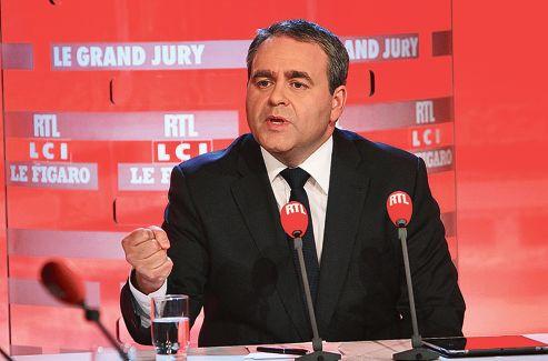 Xavier Bertrand, dimanche, sur le plateau du «Grand Jury RTL-LCI-Le Figaro»