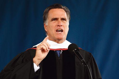 Mitt Romney, lors de son discours, samedi, à la Liberty University, en Virginie.