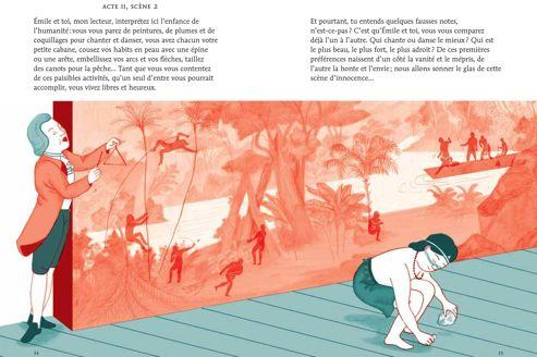 Illustration de Mayumi Otero, extraite du livre «Moi, Jean-Jacques Rousseau»