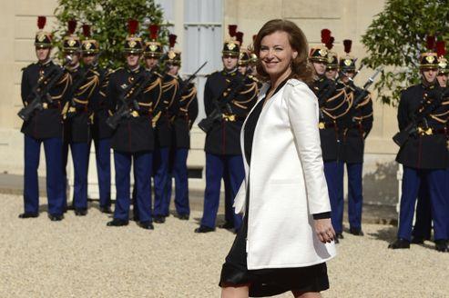 Valérie Trierweiler à son arrivée à l'Élysée.