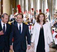 Le couple présidentiel à l''Hôtel de Ville.