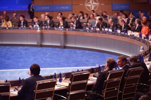Le siège vide du président français.