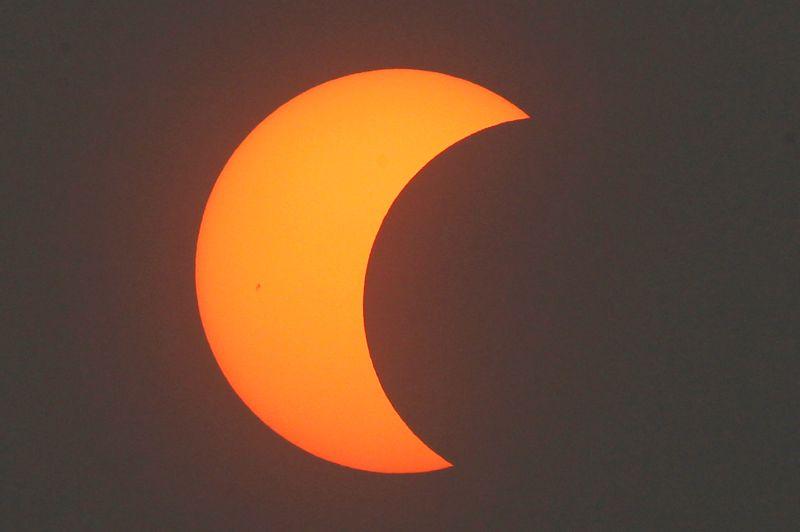 A Pékin, l'éclipse n'était que partielle.