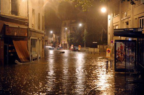 Villers-lès-Nancy, une commune située dans la banlieue sud-ouest de Nancy, lundi soir.