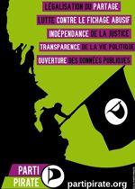 Une affiche de campagne du Parti pirate.