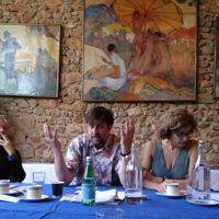 «Habemus palmam? Le président Moretti en pleine discussion», a écrit Gilles Jacob sur Twitter.
