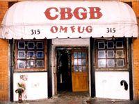 La façade du club CBGB.