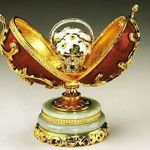 Un oeuf réalissé par karl-Pierre Fabergé pour le Tsar Alexandre III.