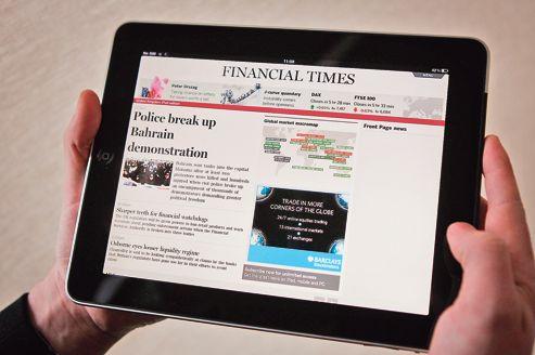 En 2012, le<i>Financial Times </i>devrait voir la part du chiffre d'affaires générée par les ventes de contenus l'emporter sur la publicité.