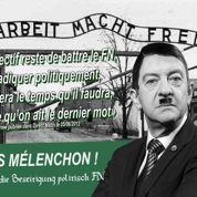 Mélenchon grimé en Hitler dans un tract