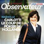 La couverture du <i>Nouvel Observateur </i> censurée à Marseille.<i></i>