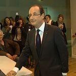 François Hollande, ce dimanche matin, à Tulle. (capture d'écran BFMTV)