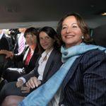Ségolène Royal mardi à la Rochelle avec cécile Duflot et Martine Aubry.