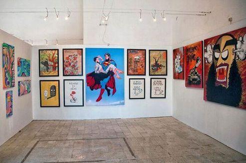 Une salle du palais Abdellia lors de la «Printemps Arts Fair» de Tunis. (© Wassim Ghozlani)