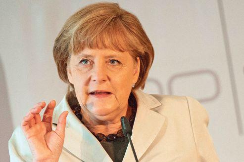Discours d'Angela Merkel devant la Fédération des entreprises familiales, vendredi, à Berlin.