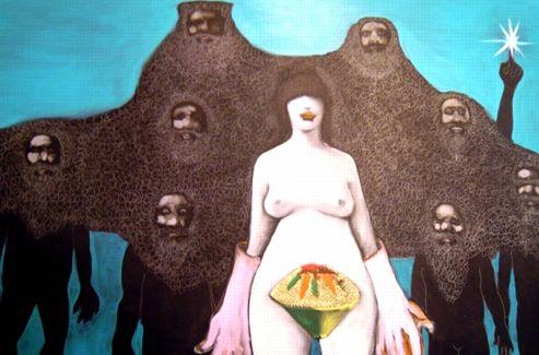 Une oeuvre de Mohamed ben Slama exposée au Printemps des Arts de Tunis. (DR)
