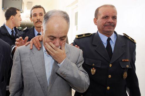Al-Baghdadi al-Mahmoudi, dernier premier ministre de Kadhafi, le 8 novembre, peu après son arrestation à Tunis.