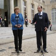 Hollande et Merkel et le sommet européen