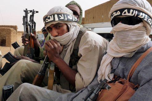 Des miliciens armés d'Ansar Dine, début juin au Nord-Est du Mali.