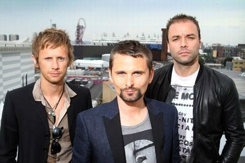 Dominic Howard, Matthew Bellamy et Chris Wolstenholme du groupe Muse. Crédits photo: NR.