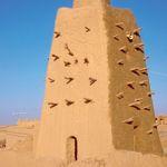 Vue partielle d'une des trois mosquées de Tombouctou, cibles des saccages des extrémistes d'Ansar Dine.