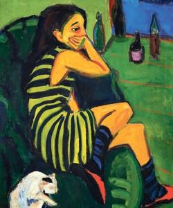 <i>L'Artiste Marcella</i>, 1910, Ernst Ludwig Kirchner et «Die Brücke», à Quimper.