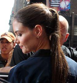 Katie Holmes, lundi à New York sur le tournage d'une série télévisée américaine.