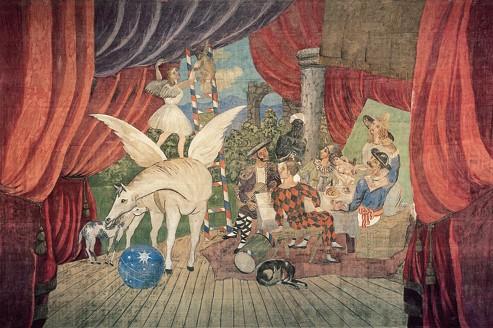 <i>Parade</i>, 1917, ce monumental rideau de théâtre est le plus grand Picasso du monde. Il est exposé au Centre Pompidou-Metz.<i></i>