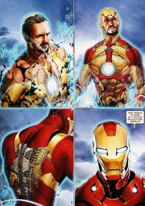 La «Bleeding Edge Armor»propulsée par le système Extremis. Crédits: Marvel.
