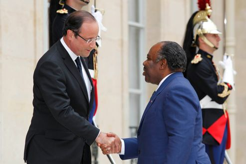 Ali Bongo et François Hollande