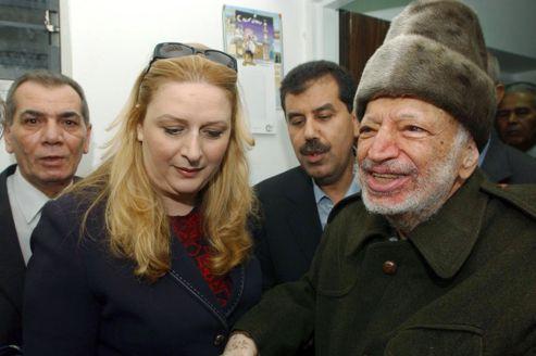 Souhat et Yasser Arafat, le 29 octobre 2004 à Ramallah.