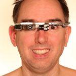 Les lunettes de Steve Mann. Crédits photo: capture d'écran blog de Steve Mann.