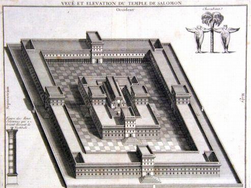 Le emple de Salomon à Jerusalem fut construit, selon la Bible, entre les années 960 et 953 avant J.-C.