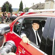 Chirac reçoit Hollande en Corrèze