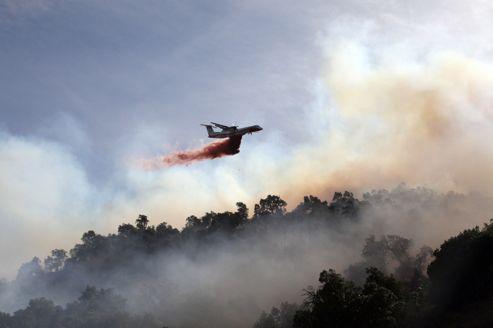 L'incendie dans la région du Perthus.