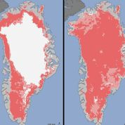 Groenland : vaste fonte de la calotte glaciaire