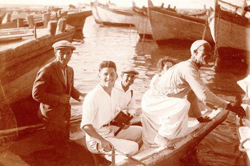 Des immigrants juifs dans le port de Jaffa en 1923
