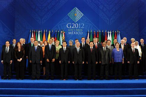 Les participants du dernier G20 à Los Cabos (Mexique), le 18 juin 2012.