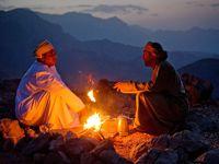 Le soir, dans le silence du djebel d'Akhdar.